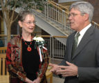 President Wilson and Distinguished Alumna Herring
