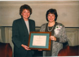 School of Nursing Director Hartweg and Distinguished Alumna Kathy Zander