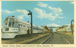 "Famous ""Denver Zephyr"" and C.B.&Q. R.R. Station, Galesburg, Ill."