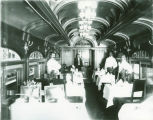 "Interior of the dining car ""Old Eli"" on the Kansas City Flyer"