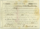 Northern Cross Rail Road Company stock certificate issued to the Trustees of the Knox Manual Labor...