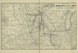 Map of the Minneapolis & St. Louis Railroad & connections.
