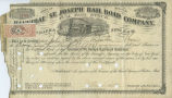 Hannibal and St. Joseph Rail Road Company stock certificate