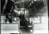 CB&Q tourist car interior