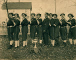 Women's Softball Team, with Mary Murray, Meyers Timm, (unknown), (unknown), Grace Hyland, Florence Hyland