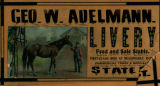 Advertisement - George W. Adelmann Livery