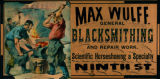 Advertisement - Max Wulff General Blacksmithing