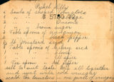 Handwritten recipe for Pickel Lilly