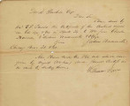 Letter from Julius Wadsworth and William Jones to David Prickett [Prickitt]Transferring Ownership...