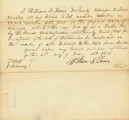 Letter from William F. Davis to Lewis Benton Transferring Claim to Lot 1 in Black 54 in the Original