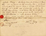 Letter from John Strong Transferring his Claim to  Lot 6 in Block 50 in the Original Town of...