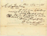 Letter from W. Caldwell to Jacob Fry, Acting Commissions, I&M Canal. Dated September 15, 1838