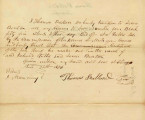 Letter from Thomas Ballard Transferring Claim to Lot No. 4 in Block 55 to Lewis Benton. Dated June 24,