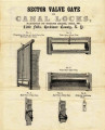 Advertisement for Sector Valve Gate for Canal Locks Patented by George Heath, July 1841, Little Falls,