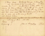 Letter from James Grant Transferring Claim to Lot 4 in Block 2 on Fractional Section 15 Adjoining...