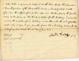 Letter from Porter Fuller agreeing to the purchase of the lot from Lewis Benton