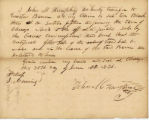 Letter from John M. Humphrey transferring his claim to Lot 10 in Block 3 on fractional section 15...