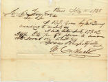 Letter from W. Caldwell to Jacob Fry dated September 15, 1838