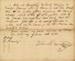 Letter from John M. Humphrey Transferring his Claim to Lot 10 in Block 3 on Fractional Section 15 Adjoining