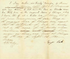 Letter from Noys Oak Transferring Claim to Lot 2 in Block 35 in the Original Town of Chicago to...