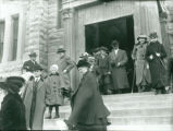 People Leaving Church on Palm Sunday [2]