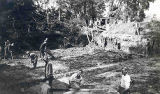 "CCC Workers Digging at ""Sipe's Hell Hole"", Camp 2601, Starved Rock State Park"