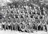 CCC workers at Camp 614 posing in their uniforms at Starved Rock State Park