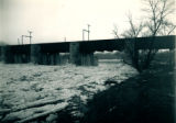 Fox River Aqueduct from Right Bank Facing Downstream, in Winter