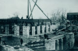 Sanitary and Ship Canal, Power House under construction, Lockport, Illinois