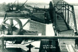 Sanitary and Ship Canal, bridge over Bear Trap Dam, Lockport (Ill.)