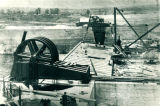 Sanitary and Ship Canal, Bear Trap Dam construction , Lockport, Illinois