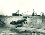 Sanitary and Ship Canal, Turning water into canal, January 2, 1900