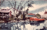 Scene on Old I & M Canal, Joliet, Illlinois