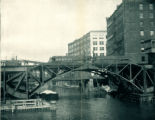 South Branch of Chicago River with Metropolitan Elevated Bridge