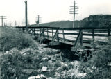 1947 Flood, material Deposited on downstream Side of Santa Fe Railroad