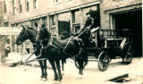 Fire Department Wagon and Horseteam