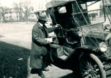 Lockport Man with Ford car