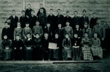 High School Group at Old Building