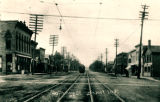 South Main Street and Trolley Car