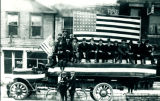 Anderson Truck in parade ending World War I