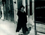 Woman strolling, Downtown Lockport