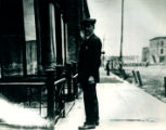 Robert Kessner, Jr. posing on 9th Street