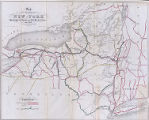 Map of the State of New York (U.S.) Showing its Water and Rail Road Lines, 1854