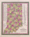 A New Map of Indiana (U.S.) with its Roads & Distances, 1847