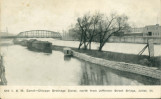 Old I. & M. Canal - Chicago Drainage Canal, North from Jefferson Street Bridge, Joliet, Ill.