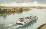 Steamer St. Paul on Mississippi River Approaching Docks at St. Paul, Minnesota
