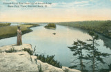 Illinois River East from Top of Lovers Leap, State Park View, Starved Rock (Ill.)