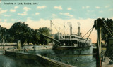 Steamboat in Lock, Keokuk (Iowa.)