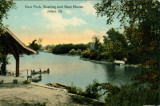 East Park, Boating and Boat House, Joliet, Ill.