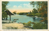Highland Park, Boating and Boat House, Joliet, Ill.